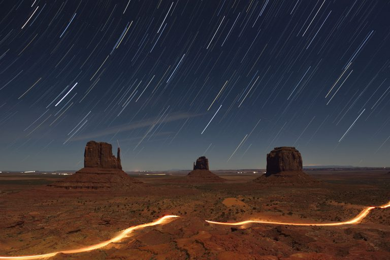 Trails in Monument Valley